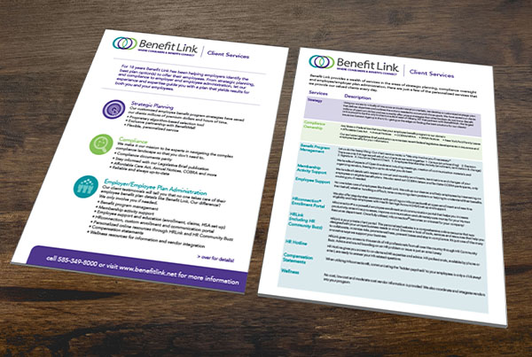 Print Collateral – Benefit Link